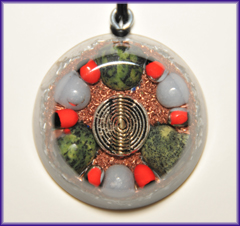 Natures blessings shaman vision orgone pendant mozeypictures Choice Image