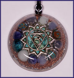 Natures blessings throat chakra orgone pendant mozeypictures Choice Image